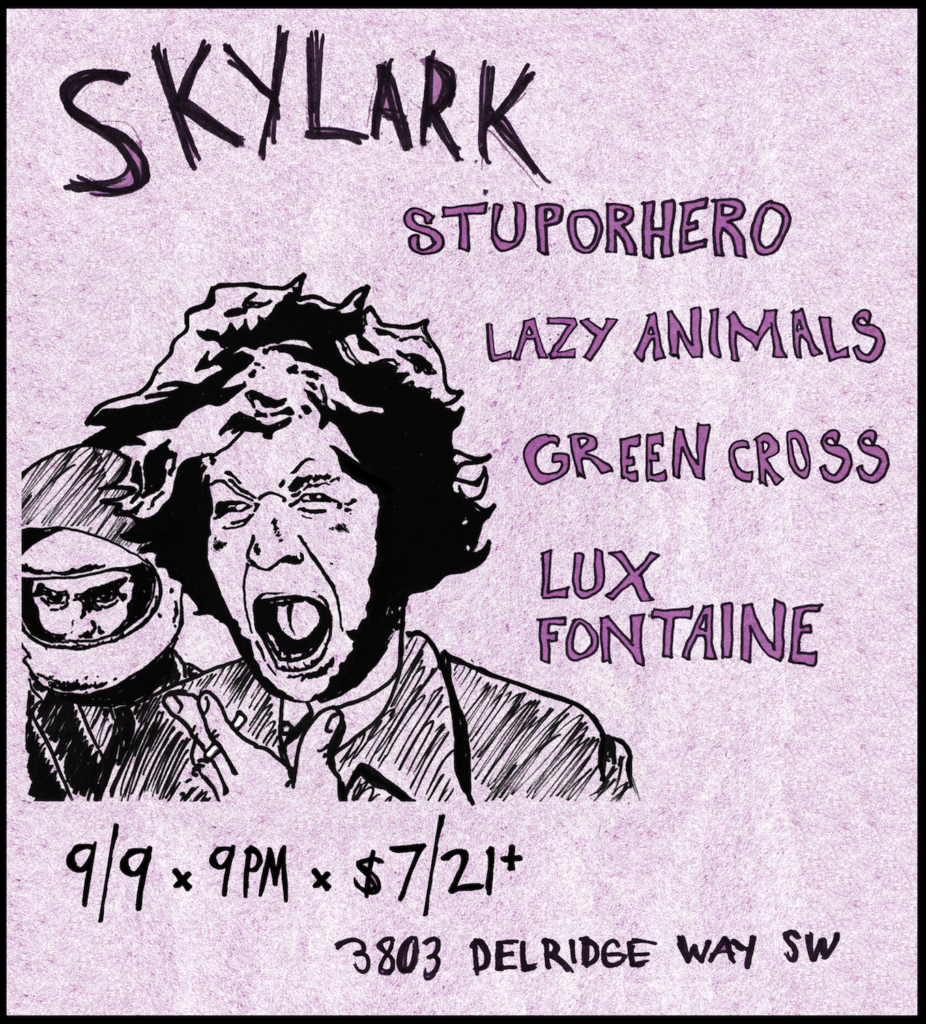 stuporhero, lazy animals, green cross, lux fontaine